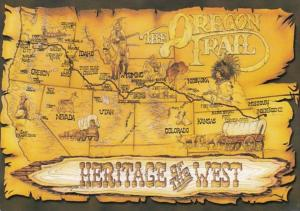 Oregon Map Of The Oregon Trail
