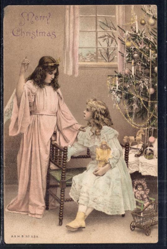 Merry Christmas Angel and Girl BIN