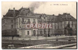 Old Postcard Troyes prefecture