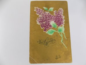 Antique German Made Best Wishes Postcard