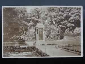 North Somerset WAR MEMORIAL Grove Park WESTON SUPER MARE c1928 Old RP Postcard