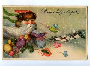 202783 SANTA CLAUS as Wind w/ Gifts Vintage NEW YEAR postcard