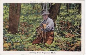 Michigan Greetings From Negaune 1942