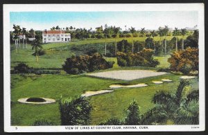 Links at Country Club Havana CUBA Unused c1920s