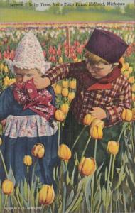 Michigan Holland Dutch Kids At Nelis Tulip Farm Curteich
