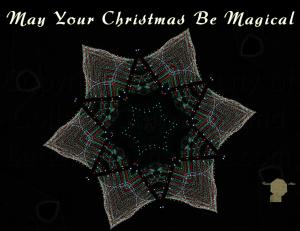 Set of 6 Christmas Postcard, Kaleidoscope of Christmas Lights Lights Within