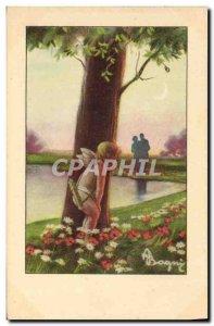 Old Postcard Fantasy Illustrator Angel