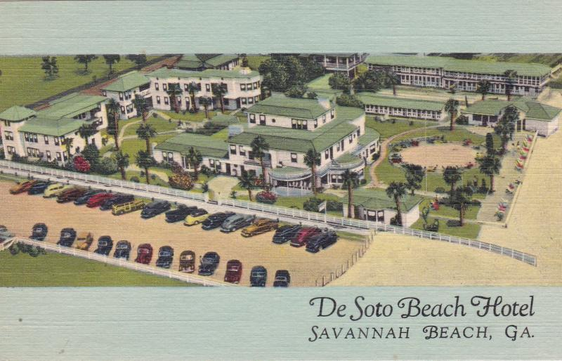 Savannah Beach Georgia 1930 40s Desoto Hotel