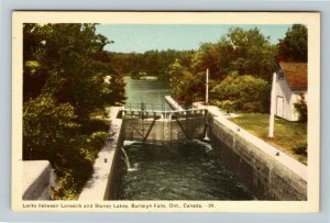 Burleigh Falls Ont. Canada - Locks Between Lovesick & Stoney Lakes Postcard