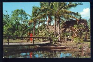 Naples-On-The-Gulf, Florida/FL Postcard, Princess Bridge, Caribbean Gardens