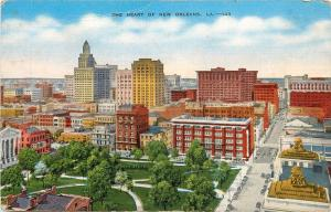 The Heart of New Orleans Aerial View Skyline Louisiana LAPostcard