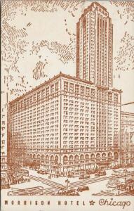 Morrison Hotel Chicago IL Illinois c1942 Postcard E47