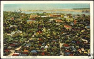 hawaii, HONOLULU, Harbour, Brid's Eye View (1928)