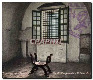 Postcard Old Surroundings of Cannes Ile Ste Marguerite iron mask Prison