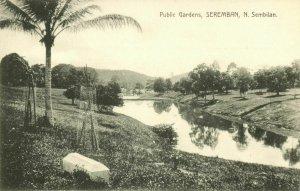 malay malaysia, SEREMBAN, N. Sembilan, Public Gardens (1910s) Postcard