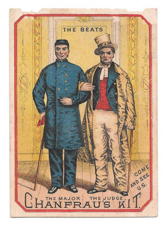 Victorian Trade Card Chanfraus Kit The Beats Arkansas Traveler Stage Play