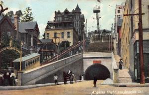 Angeles Flight, Los Angeles, California, Early Postcard, Unused