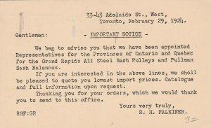 TORONTO, Ontario, Canada, PU-1924; Important Notice, Appointed Representatives