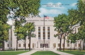 Wisconsin Oshkosh Winnebago County Court House 1945 Curteich