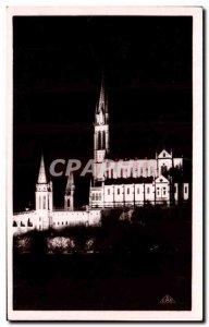 Old Postcard The Illuminee Lourdes basilica