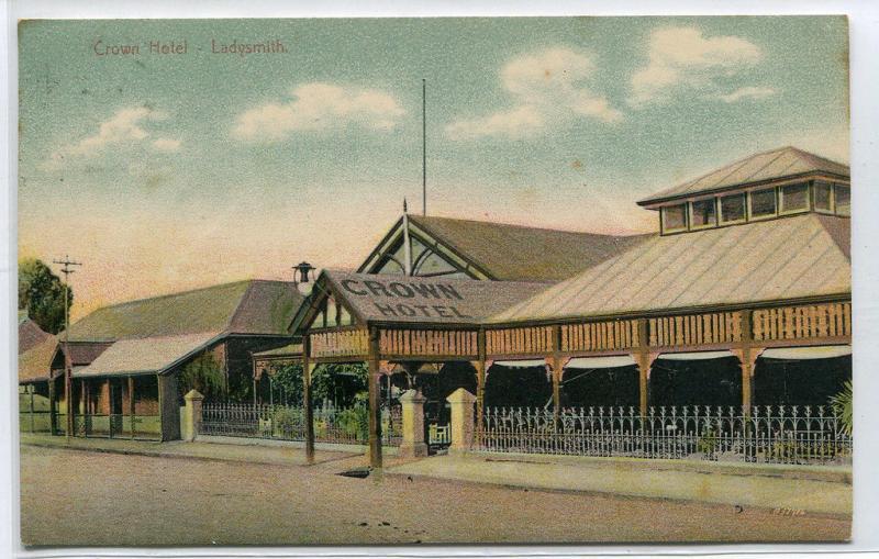 Crown Hotel Ladysmith KwaZulu Natal South Africa 1908 postcard