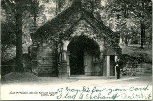 Vtg Postale 1907 - Tomb De President Mckinley - Ouest Pelouse Cimetière Canton