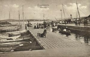 sweden, ÖRNSKÖLDSVIK, Hammen, Harbour with Fishing Boats (1918)