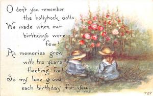 Post Card Old Vintage Antique Birthday Greeting
