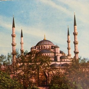 Instanbul Turkey The Blue Mosque Outside Building View Chrome Unposted