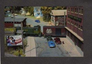 NY Model Railroad Train Cars Rensselaer Society Troy New York Postcard HO Scale