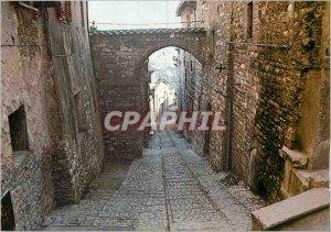 Postcard Modern Spello Via Fonte del Mastro