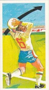 Brooke Bond Trade Card Play Better Soccer No 32 The Long Throw