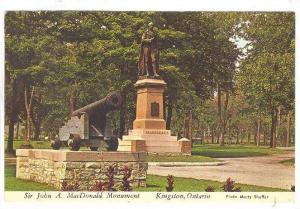 Sir John A. MacDonald Monument, Kingston, Ontario, Canada, 40-60s