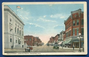 Noble Street looking south Anniston Alabama al old postcard