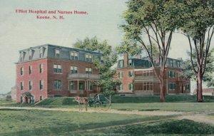 KEENE, New Hampshire, 1900-10s; Elliot Hospital and Nurses Home