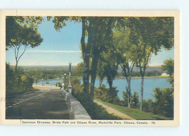 Unused 1930's PARK SCENE Ottawa Ontario ON H2818