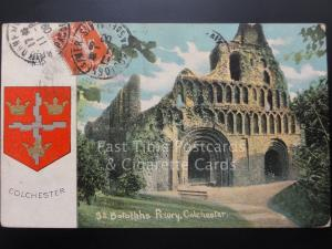 Essex: Colchester, St Botolph's Priory, Heraldic Coat of Arms c1909