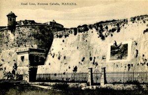 Cuba - Havana. Dead Line, Fortress Cabana