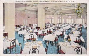 New Jersey Atlantic City Dining Room Colton Manor 1949