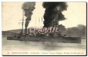 Postcard Old Navy War Ship War Dreadnoughts Condorcet's Breastplate turbines