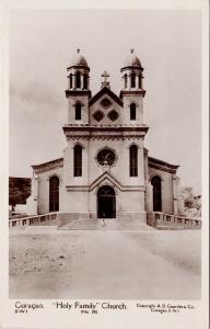 Curacao Holy Family Church DWI Dutch Caribbean Island Capriles RPPC Postcard E59