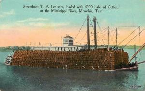 C-1910 Steamboat TP Leathers Mississippi Memphis Tennessee postcard 2130