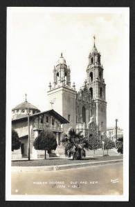Dolores Mission Old & New San Francisco CA Real Photo PC Unused c1920s