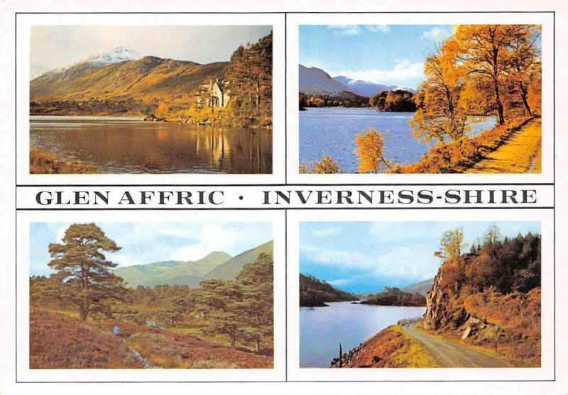 Glen Affric Inverness Shire, Loch Affric Glen The Road General view