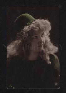 069520 TURKISH Lady SLAVE Harem LONG HAIR vintage PHOTO Tinted