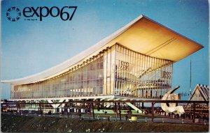 Expo 67 Montreal Quebec Soviet Union Pavillion Unused Postcard F17