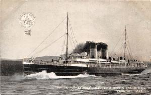 S.S. Cambria Holyhead & Dublin (North Wall) 1897 Ship, Schiff