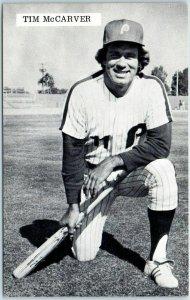 1970s TIM McCARVER Postcard Catcher Philadelphia Phillies Cardinals Baseball