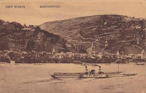 Der Rhein, Ship, Bacharach (Rhineland-Palatinate), Germany, 1900-1910s