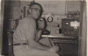 RP: YUMA , Colorado , 1955 ; Man on Ham Radio